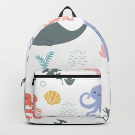 happy sea child Backpack