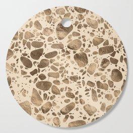 Terrazzo - Mosaic - Gold on pastel Cutting Board
