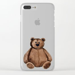 Chubster the Teddy Clear iPhone Case