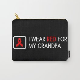 Red Ribbon: Red for my Grandpa Carry-All Pouch