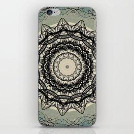 Tree Lace Black Cream Blue Pattern Kaleidoscope A541pt1 iPhone Skin