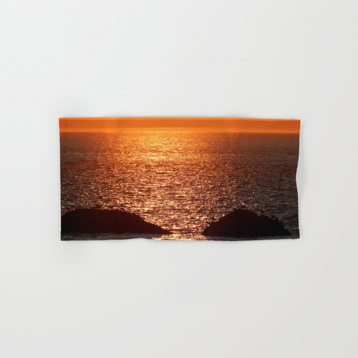 Orange Skies at Sunset Hand & Bath Towel
