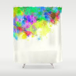 Paint Splashes Shower Curtain