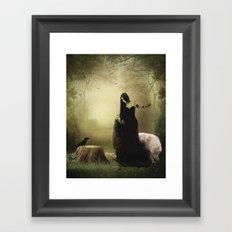 Maiden of the forest Framed Art Print