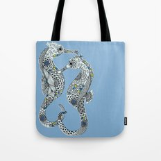 Two Seahorses Tote Bag