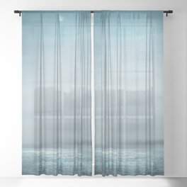 Sea Under Moonlight Sheer Curtain