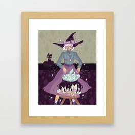 Crystal Witch Framed Art Print