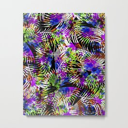 Neon Tropics Metal Print