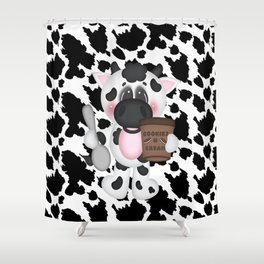 Cow Eating Ice Cream Shower Curtain