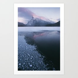Sunset at Vermillion Lakes Art Print