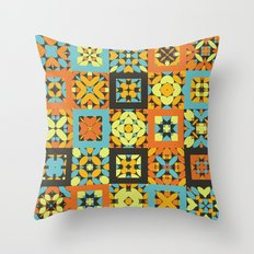 Abstract Floor Tile Pattern Throw Pillow