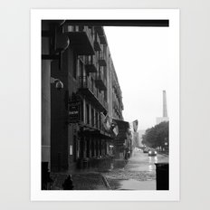 River Street Savannah Art Print