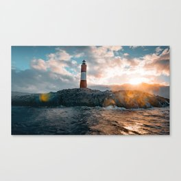 Faro del Fin del Mundo (Faro Les Eclaireurs) II Canvas Print
