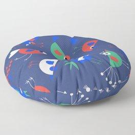 Geometric Birdies Floor Pillow