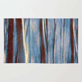 Dawn in the Winter Forest #impressionism #abstract #moods #society6 Rug