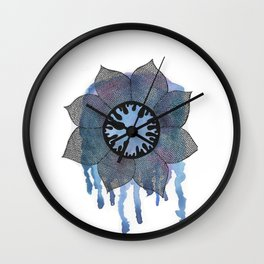 Winter Bloom Wall Clock