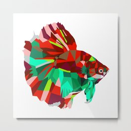 Betta fish Geometric artwork Metal Print