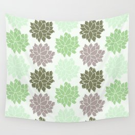 Echeveria Succulents Wall Tapestry