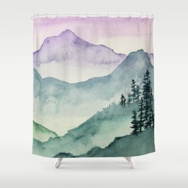 Hills and Valleys Shower Curtain