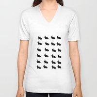 rabbits V-neck T-shirts featuring Rabbits by thewinterisnotover