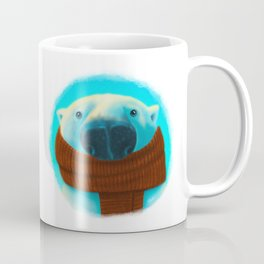 Polar bear with scarf Coffee Mug