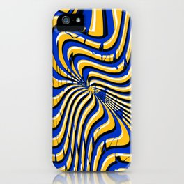 Royal Golden Psychedelic Print iPhone Case