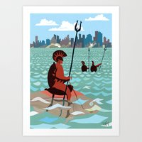 Waiting - Attack by sea Art Print