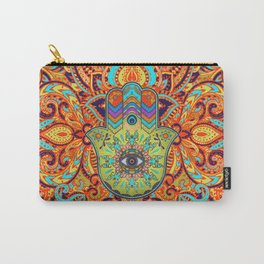 Colorful  Hamsa Hand -  Hand of Fatima Carry-All Pouch