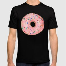 Strawberry Frost Donut Black MEDIUM Mens Fitted Tee