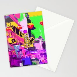 San Francisco China Town flags and lanterns Stationery Cards