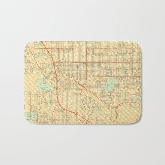 Tucson Map Retro Bath Mat