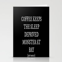 coffe Stationery Cards featuring Coffe Slave by Nola Montgomery