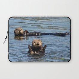 sea otter hello Laptop Sleeve