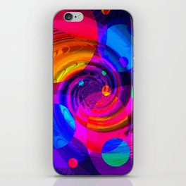 Re-Created Twisters No. 10 by Robert S. Lee iPhone Skin