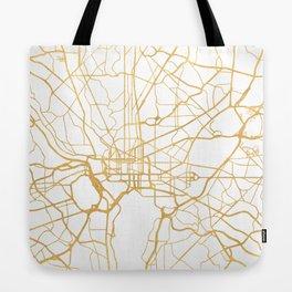 WASHINGTON D.C. DISTRICT OF COLUMBIA CITY STREET MAP ART Tote Bag