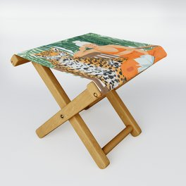 Jungle Vacay #painting #illustration Folding Stool