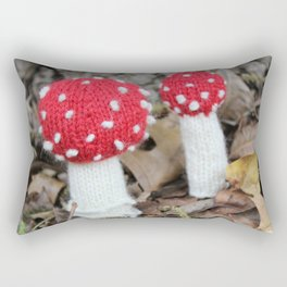 Knitted Fly Agaric Toadstool Rectangular Pillow