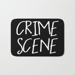 Crime Scene - Black White Bath Mat
