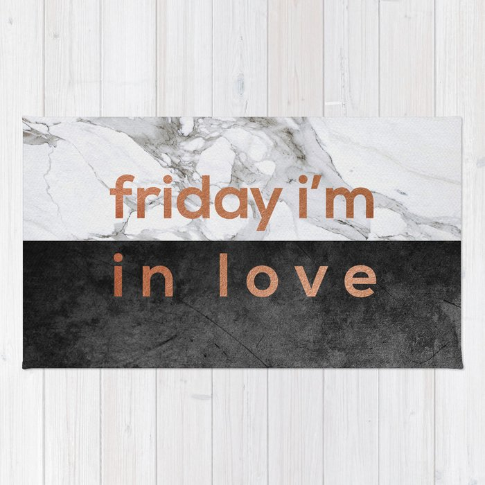 Friday I'm in Love Copper Rug