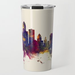 Des Moines Iowa Skyline Travel Mug