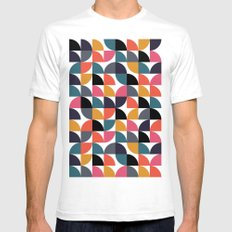 Quarter pattern SMALL White Mens Fitted Tee