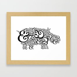 Ampersand Hippo Framed Art Print