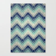 Chevron pattern_Blue Canvas Print