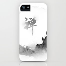 buddha and moon iPhone Case