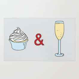 Cupcakes & Champagne Rug