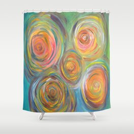 Abstract Glow  Shower Curtain