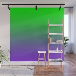 UFO Green Proton Purple Ombre Gradient Neon Ultra Violet Green Pattern Shiny Soft Texture Wall Mural