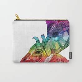 Giraffe Pair 2 - Rainbow Carry-All Pouch