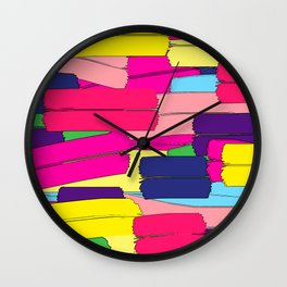 Colours are brighter when the mind is open. Wall Clock