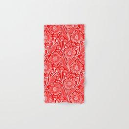 Scarlet Red Coneflowers Hand & Bath Towel